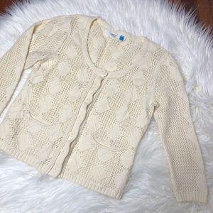 Anthropologie Sparrow Crochet ButtonDown Cardigan